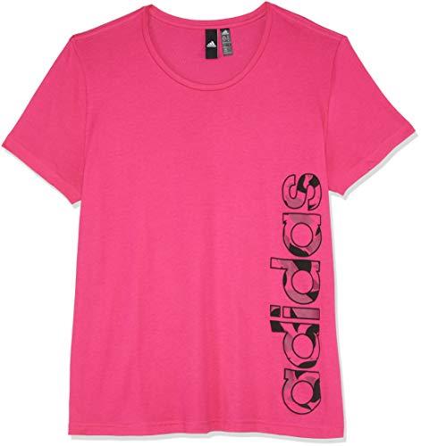 adidas Damen AOP Linear Kurzarm-Shirt, Real Magenta, S (Adidas Aop Jacke)