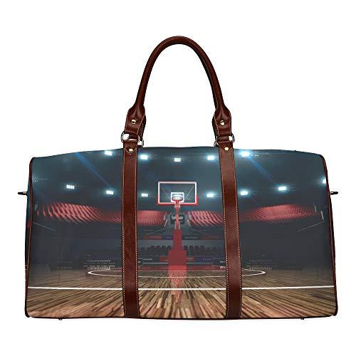 Reise-Seesack Ruhige Neue Indoor-Basketball-Fabrik wasserdichte Weekender Tasche über Nacht Carryon Handtasche Frauen Damen Einkaufstasche mit Mikrofaser Leder Gepäcktasche - Nacht Reifen