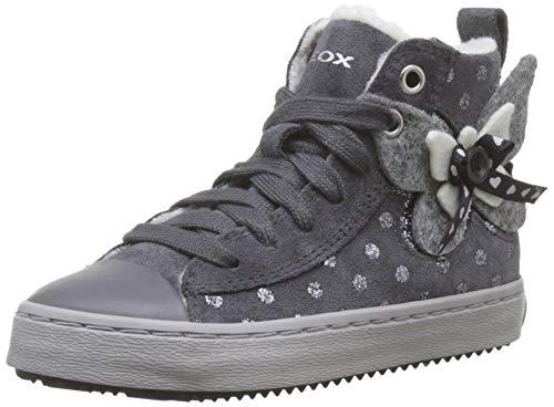 Geox J Kalispera Girl A, Zapatillas Altas para Niñas, Gris Dk Grey C9002, 28 EU