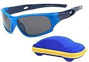 Gafas de sol infantiles deportivas polarizadas irrompibles para niños y niñas (3 a 12 años) + cordones para ga