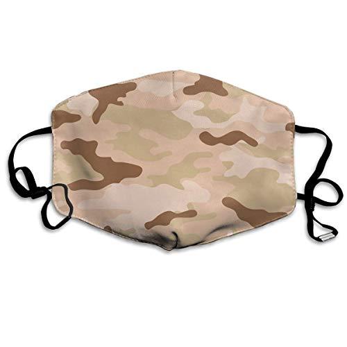Gesichtsmaske Us Army Camouflage Ohrschlaufen Gesichtsmaske – verstellbarer elastischer Riemen für Kaomoji Radfahren, antibakteriell, staubdicht, Gesichts- und Nasenabdeckung, halbe ()
