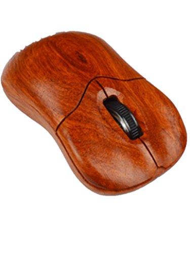 DZW 2,4 G kabellose Mäuse aus Holz klassischen Charme Funkmaus