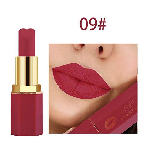 Kosmetik Matte und Kürbis Farbe Bohnenpaste Lip Solid Gloss Lipstick Langanhaltende Schönheit MCYs (Lila Lippenstift Mac)