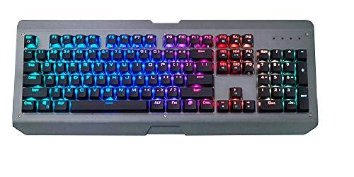 Marvel X Siberian Lynx - Mechanische Gaming-Tastatur, Gateron Brown Switches, 100% Anti-Ghosting, RGB Hintergrundbeleuchtung, LED programmierbare Aluminium-Legierung, wasserdicht Waterproof Lynx