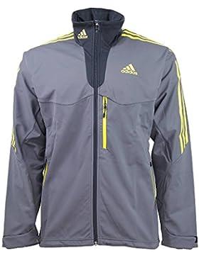 adidas Softshell Jacket M Jacke Men grey G79138, Größe Bekleidung:L