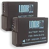 LOOKit Set - inkl. Dualladegerät + 2x LOOkit Akku BLC12 (1050mAh) für Panasonic Lumix DMC G81 FZ2000 G70, FZ300 FZ1000 G70 GX8 mit RESTLAUFZEITANZEIGE (2x BLC12)