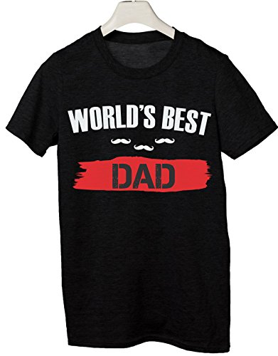 Tshirt Festa del Papà World's best Dad - Miglior Papà del mondo - humor - happy father's day - idea regalo Nero