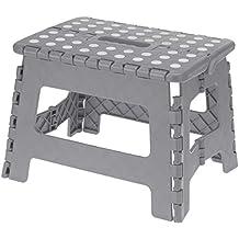 Escalera plegable con mango, taburete para cocina y hogar, plegable, antideslizante, altura Ideal