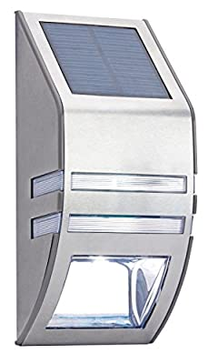 LED Solar Powered Outdoor Waterproof Security Wall Light - inexpensive UK light store.