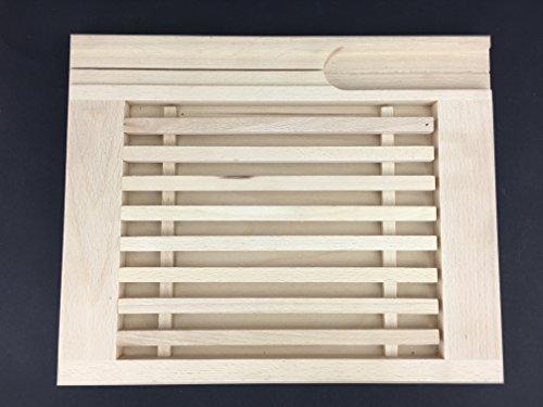 Brot Crumb Catcher Board mit Messer-Halter, Holz Buche woodeeworld Crumb-board