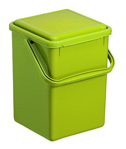 Rotho 1775505519 Komposteimer Bio, Abfallbehälter für die Küche aus Kunststoff mit Geruchsdichtem Deckel in Hellgrün, Biomülleimer mit 8 L Inhalt, circa' 23 x 22.5 x 27.5 cm Komposteimer, Plastik