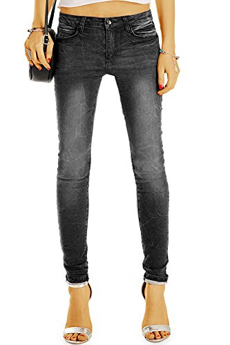 Bestyledberlin Damen Jeans, Skinny Fit Grey Jeans, Schmale Basic Stretch Jeans j16g 36/S (Hose Graue)