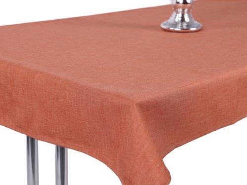 Mantel aspecto de lino, Lotus Efecto, impermeable,, antimanchas, 135x 180ovalado en color...