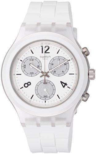 Swatch Damen Chronograph Quarz Uhr mit Silikon Armband SVCK1007