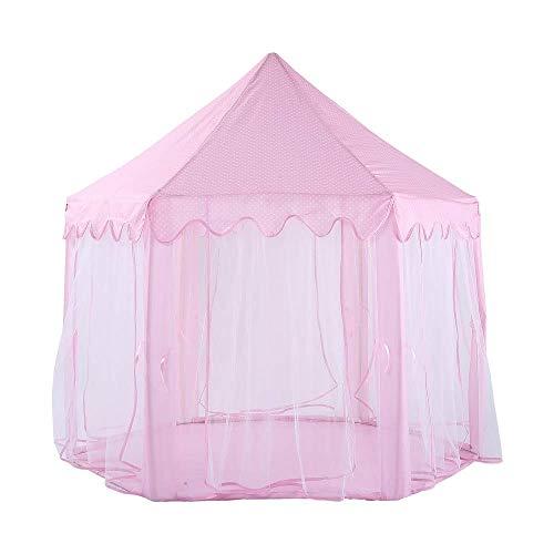 Spielen Sie Zelt Für Mädchen - Große Rosa Prinzessin Schloss Spielhaus - Indoor Für Kinder Geschenk Mit- Für 1-8 Jahre Alte Kinder (Farbe : Rosa)