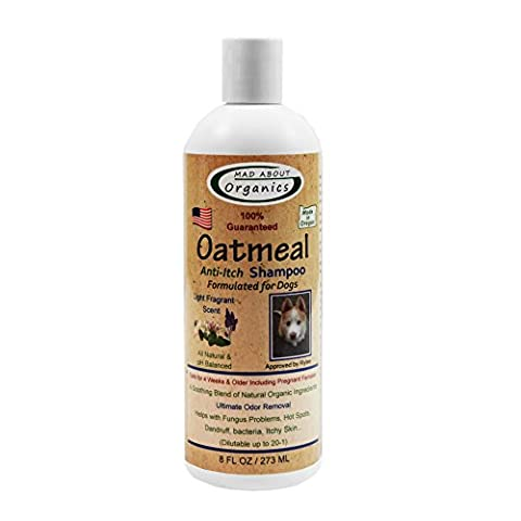 Mad About Organics All Natural Dog Puppy Oatmeal Shampoo Concentrate 8oz by Mad About Organics