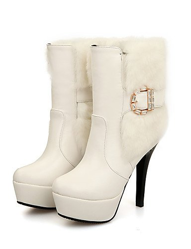 CU@EY Da donna-Stivaletti-Casual-Stivali-A stiletto-PU (Poliuretano)-Nero / Bianco white-us9.5-10 / eu41 / uk7.5-8 / cn42