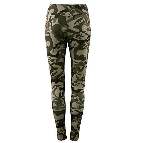 Coolster Damen Trainingsanzug Camouflage Tops & Hosen Sweatshirt Sets Casual Sport Wear (Tarnung, Pants L)
