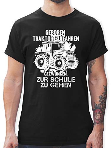 Andere Fahrzeuge - Geboren um Traktor zu Fahren - L - Schwarz - L190 - Herren T-Shirt und Männer Tshirt