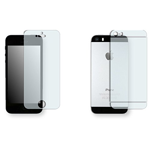 Golebo crystal clear Displayschutzfolie für Nokia Lumia 630-(transparent Displayschutzfolie, Air Pocket Kostenlose Anwendung, einfach zu entfernen), Apple iPhone 5S the front / the reverse 1x clear (Protector Iphone Full Screen 5s)