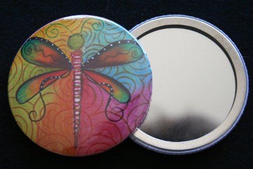 Bouton libellule miroir Accessoire de sac à main