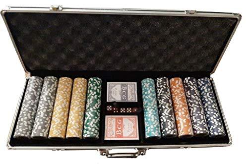 Set Poker Valigetta Completo 500 Fiches all 14 Grai
