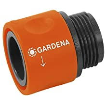 Gardena 2917-20 Threaded Hose Connector, Connection Piece to Adapt Screw-Type Hose Connection to a Gardena Tap Connector for 26.5 mm (G3/4 Inch) Threads for Appliances Like Washing Machines, Packaged