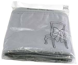 Kel-Toy Organza Chair Bow, 9-Inch by 3-Yard, Silver