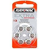 Rayovac RAHA13 Extra Advanced Hörgeräte-Batterien (6-er Pack)