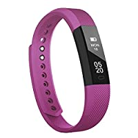 Fitness Tracker,Smart Watches RobotsDeal Bluetooth Call Remind Remote Self-Timer Smart Watch Activity Tracker Calorie Counter Wireless Pedometer Sport Band Sleep Monitor For Android iOS Phone (Purple)