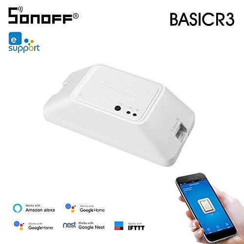 Docooler Sonoff Basic R3 DIY WiFi Smart Remote Control Kompatibel mit Alexa Google Home Nest (1 Stück)