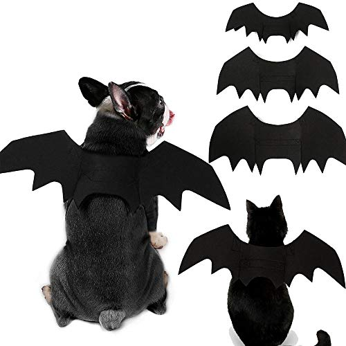 KOBWA Katze Hund Bat Kostüm Flügel, Pet Fledermaus Vampir, Halloween Katze Kostüm für Katzen Hunde Pet Fledermaus Flügel Katze Hund Fledermaus Kostüm ()