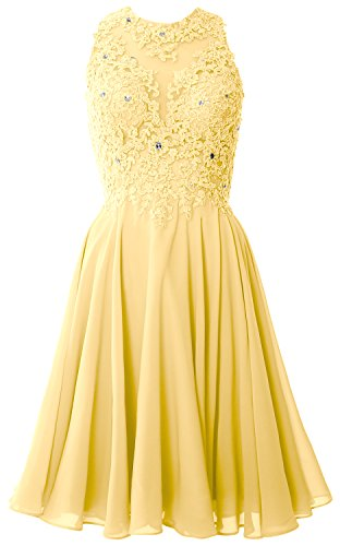 MACloth Women High Neck Lace Cocktail Dress Short Prom Homecoming Formal Gown Canari
