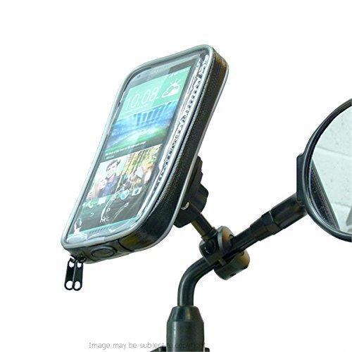 wetterfest Fahrrad- Roller Moped Spiegel Handy Halterung für HTC Desire 816 (SKU 19904)