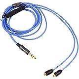 Cable de Audio de Actualización Cable de Auriculares con Reemplazo de Micrófono para Shure SE215 SE425 SE535 ( Color : Azul )