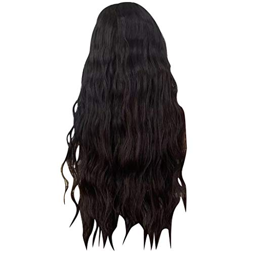 ☀JiaMeng Damen Perücken, Glueless Lace Front Wigs for Women Natural Loose Wavy Heat Resistant Fiber Synthetic Wig with Baby Hair