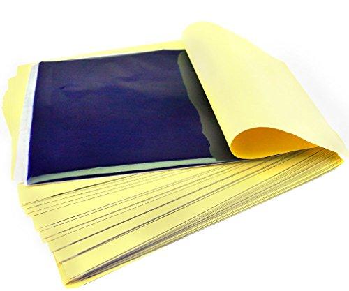 50 x FEUILLES Papiers Pour TATOUAGE TATTOO Transfert Stencil Thermique Carbon Kit Art