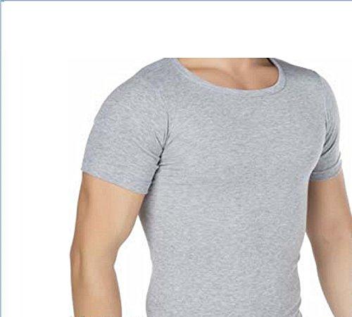 2er Pack Herren Tank Top Classic Achselhemd Muskel Shirt Unterhemd Feinripp-Baumwolle Weiß Schwarz Grau Grau/Schwarz
