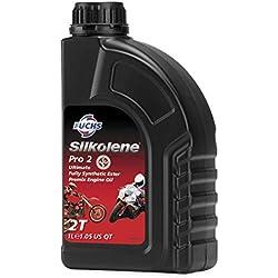 Fuchs Silkolene Pro 2 - Aceite para motocicleta de carreras y carreteras, 2 tiempos, premezclado, de alto rendimiento, 1 litro