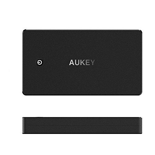 AUKEY Quick Charge 3.0 Bateria Externa 20000mAh, Power Bank con Entrada Micro USB, para iPhone X/ 8/7/ 6s, Samsung Galaxy S8/S8+, iPad, Tablet y más