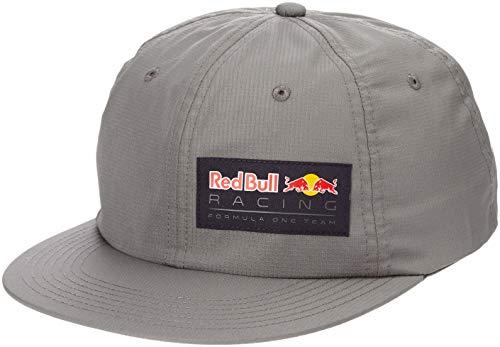 Kurze Crown Caps (Red Bull Racing Letra Flat Cap, Gris Unisex One Size Flat Cap, Racing Aston Martin Formula 1 Team Original Bekleidung & Merchandise)
