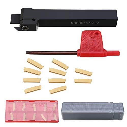 MGEHR1212-2 Drehwerkzeug Einstechdrehwerkzeug +10tlg MGMN200-G Hartmetall Einsätze + Schraubenschlüsselfür CNC-Maschine