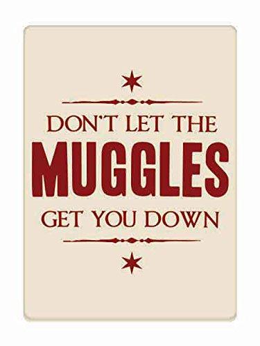Harry Potter Magnet Muggles Beige 6,5x9cm -