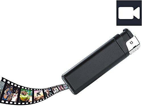 OctaCam Feuerzeug Kamera: Akku-Videokamera MC-720 in Feuerzeug-Optik, microSD (Feuerzeug Cam)