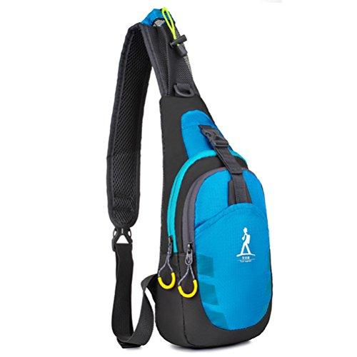 Baymate Unisex Packable Spalla Zaino Attraversare Corpo Il Petto Sacchetto Pacchetto Blu Ubicaciones De Los Centros X34vXM
