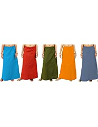 ROYAL STAR Multicoloured Cotton Petticoat Pack of 5