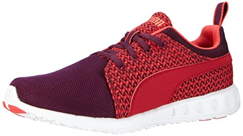 Puma - Carson Runner Knit Wn'S, Sneakers da donna Rosso (Red - Rot (lipstick red-cayenne 04))