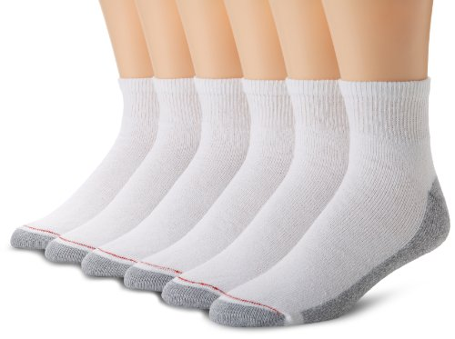 hanes-pack-de-6hombre-calcetines-de-tobillo-full-cushion-blanco-10-13zapatos-tamao-6-12