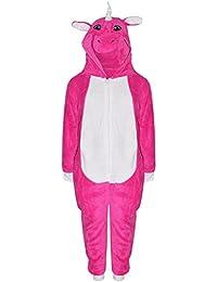 A2Z 4 Kids® Enfants Filles Garçons Doux Duveteux Animal Licorne Rosé Bébé Onesie Tout in Un Costume Âge 7-13 Ans