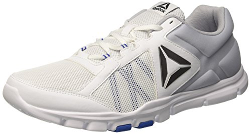 Reebok Yourflex Train 9.0 Mt, Scarpe Sportive Indoor Uomo Bianco (White/vital Blue/cloud Grey)